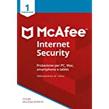 McAfee Internet Security 1 Dispositivo| Abbonamento di 1 anno | PC/Mac/Smartphone/Tablet |  Codice d...