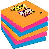 Post-it 654-6SS-EG Lot de 6 Blocs de Notes 90 Feuilles 76 X 76 mm Couleurs Pétillantes