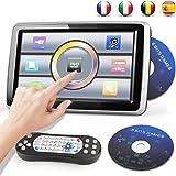 DVD Player Auto Kopfstütze mit Bildschirm 10.1 zoll DVD Player Tragbar Auto TouchScreen 1080P Einstellbarer Winkel Video/USB/SD-Card/FM-Sender Gamepad und 8 bits Spiele CD angeboten Bedienungsanleitung auf Deutsch