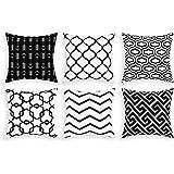Alishomtll Cushion Covers set of 6, Pillow Cover Cushion Case, Soft Throw Pillowcase Geometric Sofa Home Decoration Pillow, P