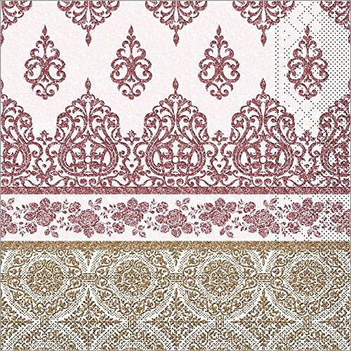 (Sovie HORECA Serviette Madrid in bordeaux aus Tissue 33 x 33 cm, 100 Stück)