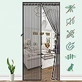 SAFETYON Zanzariera Porta Magnetica 100 x 220cm, Tenda Anti-zanzare Totalmente Magnetica Chiusura Automatica Traspirante Resi