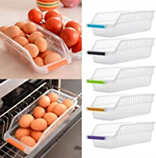 INOVERA (LABEL) Plastic Space Saver Food Storage Organiser Box, 29x12.5x8.5cm (Assorted) - Set of 8