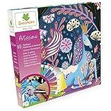 SYCOMORE-CREA008 Artissimo-10 Tableaux à décorer – Animaux Fantastiques – Paillettes & Dorures-Loisirs Créatifs Enfant-Dès 7