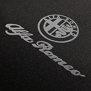 Autoteppich Stylers Fußmatten Aus Nadelfilz Mit Druck Logo Schrift Q100 Alfa L S 502 Alfa 003 Auto
