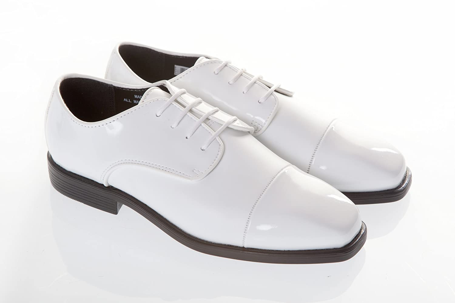 Mens White Patent Wedding Dress Shoes: Amazon.co.uk: Shoes & Bags