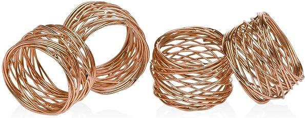 IndianArtisans Bird Nest Napkin ring Copper-Set of 6