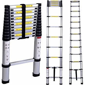 62f40f7c68 Saysha Ultra-Stable Aluminium Folding Telescopic Ladder 3.2 Meter (10.5  Feet)