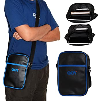 ACM Premium Soft Dual Padded Shoulder Sling Bag for Dell Venue 8 V7840 7000 Series Carrying Case Black