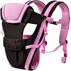 Chinmay Kids 4 In 1 Deluxe Series-4 way carrying position, with wide shoulder straps,Baby Carrier (Pink)