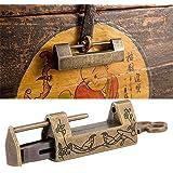 Chinees slot en sleutel bloem vogel hangslot vintage gesneden antieke slot decoratieve slot met sleutel voor sieraden doos la