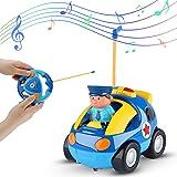 Sirecal Coches Teledirigidos para Niños Pequeños con Música y Luz Juguetes de Racer Coche de Policía Carreras Control Remoto