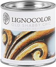 Kreidefarbe Shabby Chic Lack Landhaus Stil Vintage Look 375ml Antiklook (Dark Silver)