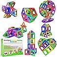 Desire Deluxe Magnetische Bausteine 94PC Konstruktion Bauen Blöcke Set Montessori Spielzeug Teilen für Kinder ab 2 3 4 5 6 7