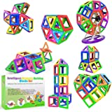 Desire Deluxe Bloques de Construcción Magnéticos Infantiles - Juego Creativo Educativo de 94 Piezas de Formas Geométricas con