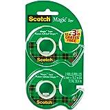 Scotch Twin pack Magic Lot de 2 Rubans adhésifs 19 x 15 m/3,2 m