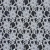Fabulous Fabrics Spitze klassisch Weiss - Meterware ab 0,5m