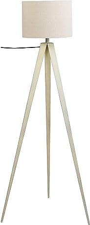 Umi. by Amazon - Lámpara de pie, pantalla de tela, trípode, 152,4cm, blanco
