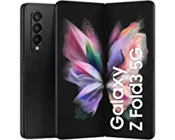 Samsung Galaxy Z Fold3 5G Dual SIM and eSIM Smartphone, 256GB Storage and 12GB RAM (UAE Version), Phantom Black + Samsung Gal
