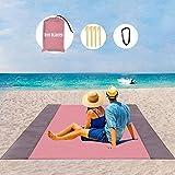 LIN KANG Outdoor Kompakte Picknickdecke - Stranddecke,extra groß, 210 x 200 cm picknickdecke wasserdicht Strandmatte mit 4 fe