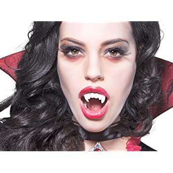 OULII Denti da Vampiro Finti Halloween Costume Travestimento  Amazon ... 66a5607a3afc
