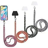 4 Stücke Universale Handy Lanyards mit Einstellbarem Abnehmbarem Nylon Hals Umhängende Lanyard und 4 Stücke Schwarze und Tran