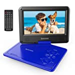 """Spacekey Portable DVD Player 9"""" with 5 Hours Rechargeable Battery by SPACEKEY, Swivel Screen, Support USB/SD Slot and..."""