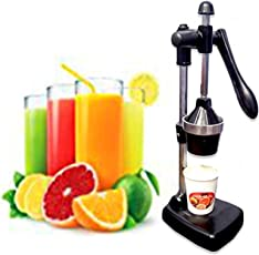 Royal World Aluminium Hand Press Citrus Manual Fruit juicer-No Electricity Required (Black)