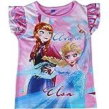 22-1949 Camiseta para niña FROZEN Elsa y Anna algodón de 3 a 7 años - 5 años