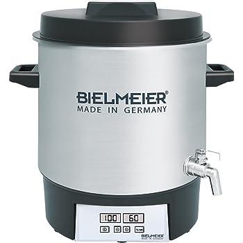 Bielmeier 411200 Einkoch Vollautomat Digital, 27 L, 3/8 Zoll Edelstahl-Auslaufhahn, 1800 W, BHG 411.2