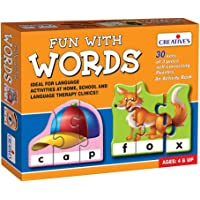 Creative Educational Aids P. Ltd. - CRE0639 Fun With Words Puzzle (Multi-Color, 90 Pieces)