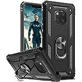 LeYi för Huawei Mate 20 Pro fodral med magnetisk ringhållare, helkroppsskyddande [militärklass] silikon TPU personlig stötsäk