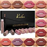 Rechoo 12 Pcs Matte Lippenstifte Wasserfest Langlebig Liquid Lipstick Lipgloss Set