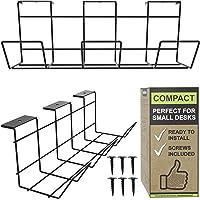 Kabelmanagement-Ablage für die Schreibtischunterseite – Schreibtisch-Kabelhalter für das Büro und Zuhause, perfektes…
