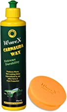 WaveX CPSL350 Brazilian Carnauba Wax Car Polish and Wax Applicator (350 g)