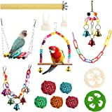 REHTRAD 15 in 1 Set Birds Toys for Parrots,Parrot Toys for Birds,Applicable Birds Budgies Toys