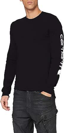 Carhartt Men's Signature Logo Long-Sleeve T-Shirt