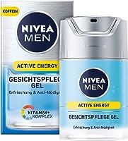 NIVE MEN Active Energy Gesichtspflege Gel, belebende Gesichtscreme für Männer, Feuchtigkeitscreme gegen Zeichen von...
