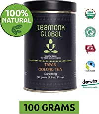 Teamonk Darjeeling Organic Oolong Tea for Weight Loss, 100g (50 Cups) | 100% Natural Loose Leaf Tea | Tapas Oolong Tea for Weight Loss | No Additives, USDA Organic Certified