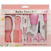One Stop Shop Baby Nail Clipper Set Infant Manicure Nursery Grooming Scissor Tweezers, Style 2, 8 Pieces (Pink)
