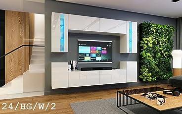Charmant HomeDirectLTD Wohnwand Future 24 Moderne Wohnwand, Exklusive Mediamöbel,  TV Schrank, Garnitur,