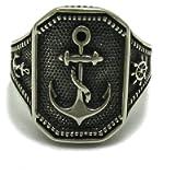 Sterling silver men ring solid 925 Anchor R001731 Empress