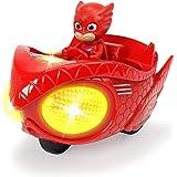 Dickie Toys 203142002 PJ Masks Mission Racer Owlette, Die-Cast voertuig met vrijloop, licht en geluid, speelt titelmelodie ui