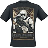 Star Wars Episode 6 - The Return of The Jedi - Imperial Army Hombre Camiseta Negro, Regular