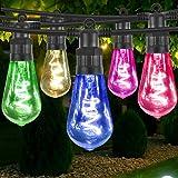 Gresonic LED 10 lampor spiral filament för dekoration inomhus och utomhus spiral filament (10 LED-lampor, färgglad)
