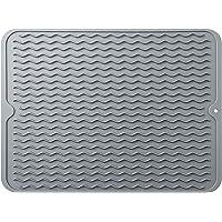 Hotype Tapis de Séchage Vaisselle en Silicone, Organisateur d'évier, Support pour évier de Cuisine, Résistant à la…