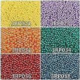 600 stk 6 Farben Tschechische Gepresste Glasperlen Rund 3 mm, Set RP 316 (3RP024 3RP027 3RP032 3RP034 3RP036 3RP038)