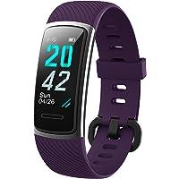 KUNGIX Neuestes Modell Fitness Tracker, Schrittzähler Uhr IP68 Wasserdicht Smartwatch mit Pulsmesser Smart Watch für…
