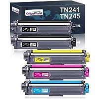OfficeWorld Compatible Brother TN-241 TN-245 TN241 TN245 Cartouche de Toner pour Brother DCP-9020CDW 9015CDW 9022CDW DCP…