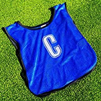 Netball Bibs [All Positions] – 7 Pack Of Light, Breathable Bibs For All Ages – Red or Blue [Net World Sports]